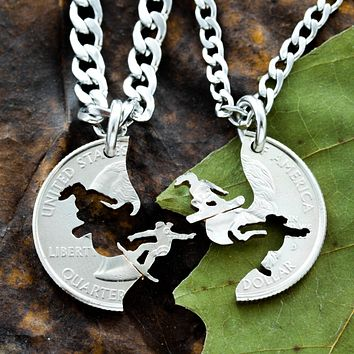 Snowboarding Best Friend Necklaces By Namecoins