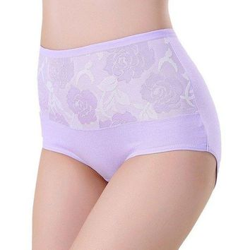LMFONHC Sexy Women Lace Panties Fashion Designer Briefs High Waist Underwear Women's Panty