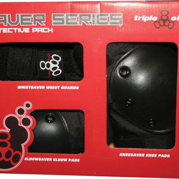 Triple 8 Saver 3 Pack Pads Large Knee/Elbow/Wrist