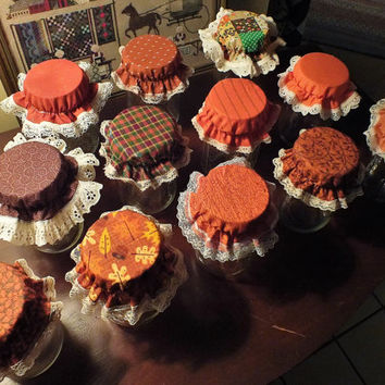 Fall Variety Pack Canning Jar Bonnets/Jar Toppers /Jar Lid Covers - Package of 12