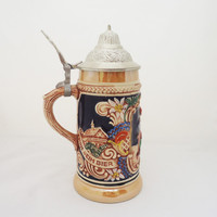 Vintage Gerz Beer Stein, German Beer Stein, Western German Beer Tankard