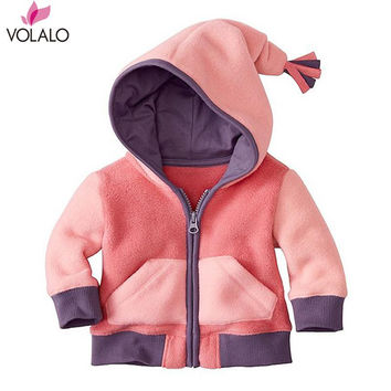 2016 Spring Autumn New Baby Girls Hooded Fleece Cloak Cape Dolman Kids Jacket Coat Cardigans Outwears for1-18 months baby