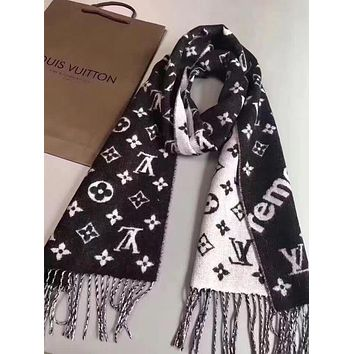 GUCCI Fashion Men Women Letter Print Cashmere Scarf Scarves Shawl Accessories