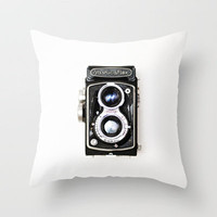 Yashica Retro Vintage Camera Throw Pillow by Kimberly Blok | Society6