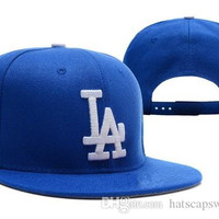 2016 New Men's Los Angeles Dodgers Snapback Hats Team Logo Embroidery Sports Adjustable LA Baseball Caps Strapd Back Leather Hats