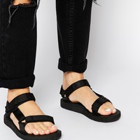 Teva Original Universal Black Flat Sandals