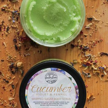 Cucumber Violet & Fennel - Whipped Sugar Scrub