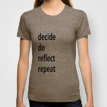 Decide Do 100% Organic Typography Men Fitted tee Typography Women Fitted tee Certified Organic Cotton t-shirt Motivation tee Inspiration tee