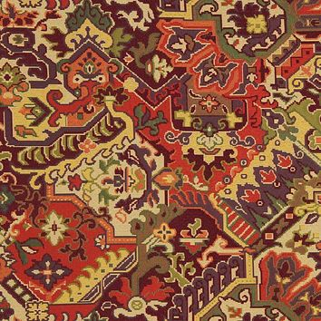 Robert Allen Fabric 221402 Aztec Garden Berry Crush