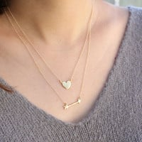Arrow Necklace- sterling silver or 14k gold vermeil