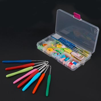 1 set Durable and practical 16 Different sizes Crochet hooks Needles Stitches knitting Craft Case crochet set in Case Yarn Hook
