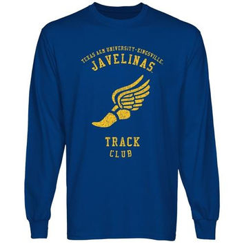 Texas A&M Kingsville Javelinas Sport Club Long Sleeve T-Shirt - Royal Blue