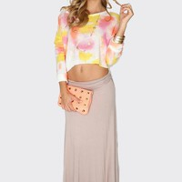 Take It Easy Maxi Skirt - Tan