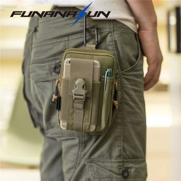Tactical Compact Cell Phone Waist Bag Pack Military Molle Pouch Belt Clip Holster EDC Utility Gadget Waist Bag Olive Drab