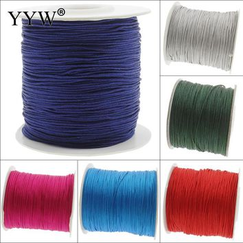 120m 0.5mm Nylon Cord Thread Chinese Knot Macrame Cord Plastic String Strap DIY Rope Beads Necklace Shamballa Bracelet Making