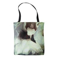 Cool White floral texture Tote Bag