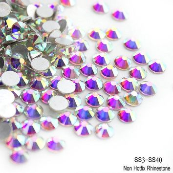 QIAO Crystal AB Rhinestone for Nails Art Crafts Sew Strass Stones and Crystals Glass Rhinestones