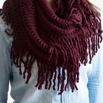 The Infinite Infinity Scarf Burgundy