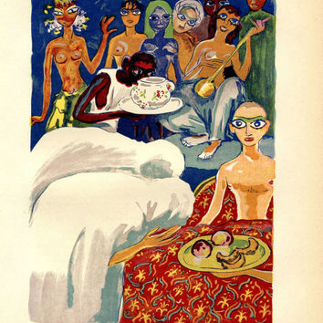Kees van Dongen Art Print Limited Edition, A Thousand and One Nights Illustration, Fauves