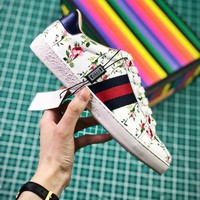 Gucci Ace Embroidered Low Top Sneakers Style 1 - Best Online Sale