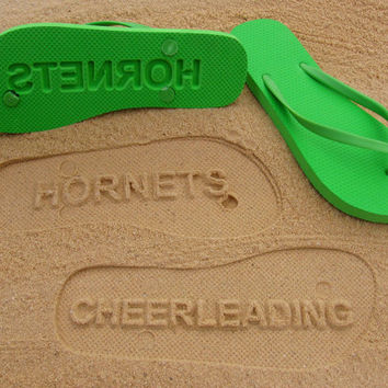 Custom Sand Imprint Flip Flops. Your Design. No Minimum Order Quantity.