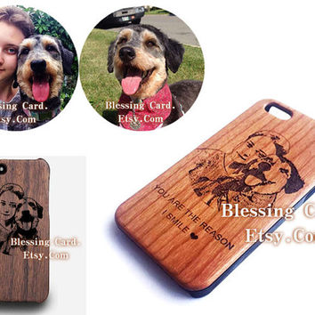 Custom Cherry Wood iPhone 5 Case for Lisa Williams