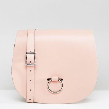 Leather Satchel Company Saddle Bag with Bull Ring Closure at asos.com