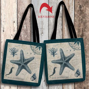 Ocean Life V Canvas Tote Bag