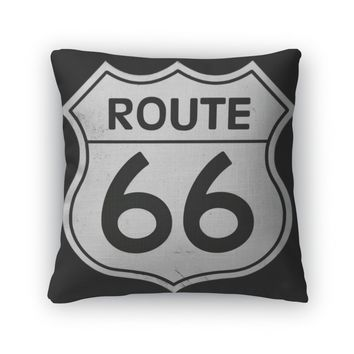 Throw Pillow, Route 66 Sign