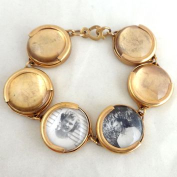 Vintage Bubble Photo Six Link Bracelet