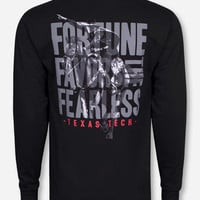 Texas Tech Fortune Favors the Fearless Black Long Sleeve