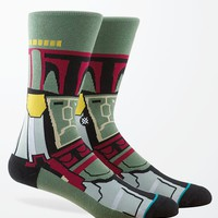 Stance Boba Fett Crew Socks - Mens Socks - Green - One