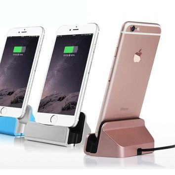Sync Data Charging Dock Station Desktop Docking Charger USB Cable For Apple iPhone 6 6s 7 Plus 5 5s SE Phone Cradle Stand Holder