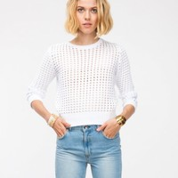 Topshop / Grid Stitch Jumper