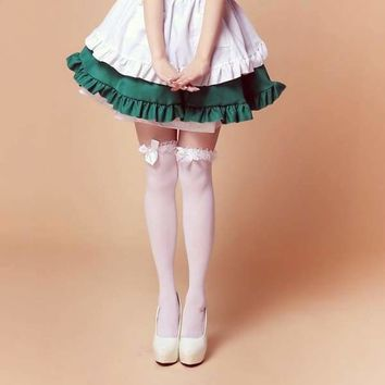 Beauty lolita over-the-knee Stockings black & white Soft sexy Stockings cosplay lolita punk style Stockings Macchar Cosplay Catalogue