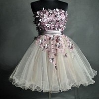 Charming Sweetheart  Strapless Mini Prom Dress