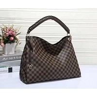 LV Louis Vuitton Women Shopping Bag Leather Tote Handbag Satchel Bag F