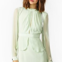 Rosie Silk Peplum Dress