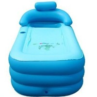 Folding Inflatable Bathtub Portable bath tub Spa Tub//wholesale,retail//blue//size:120*45*45CM