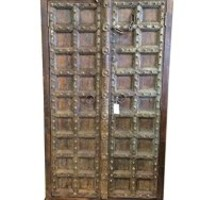 Antique Cabinet Shabby Chic Storage Armoire Indian Bedroom Rustic Storage Indian Furniture | Mogul Interior