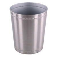 Shop 2.906-Gallon Silver Trash Can at Lowes.com