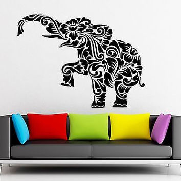 Wall Sticker Vinyl Decal Elephant Animal Pattern for Kids Room Decor (ig2198)