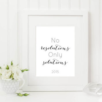 Printable Typography Art Print Inspirational Print New Year Resolutions Poster Black White Wall Art Minimalist Print Dorm Decor Home Decor