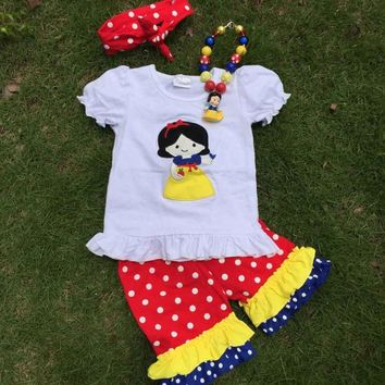 SNOW WHITE GIRLS SHORT SET - OUTFIT