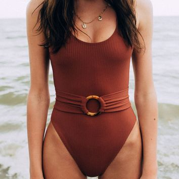 Classic Belted One Piece