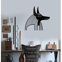 Wall Sticker Vinyl Decal Anubis Egypt Egyptian God Mythology Ancient World Unique Gift (ig1262)