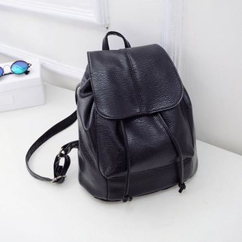Large Women's Black Versatile Backpack Purse Satchel