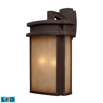 42142/2-LED Sedona 2 Light Outdoor LED Wall Sconce In Clay Bronze - Free Shipping!