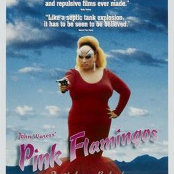 Pink Flamingos Movie Poster Standup 4inx6in
