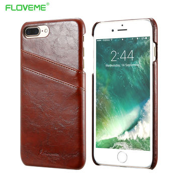 FLOVEME 5s SE Business Card Holder Cover For iPhone 5 5s SE PU Leather Case  For 921414a05